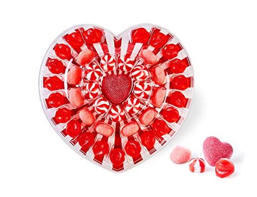 Gommy's Factory LOVE&KISSES (Sin Gluten). Tarta Regalo de Gominolas con Forma de Corazón, 41 Golosinas, 250 Gramos