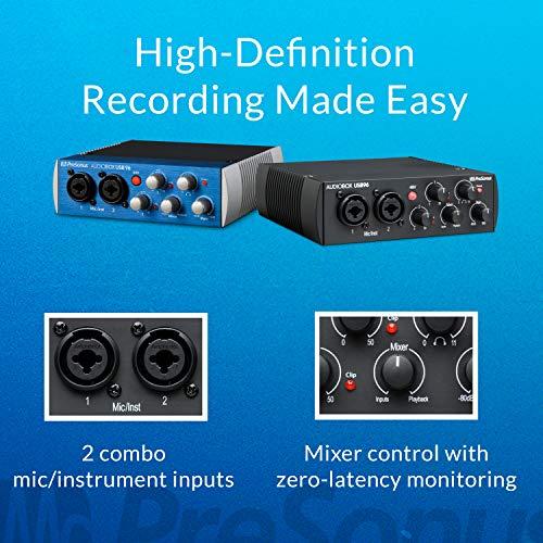 PreSonus AudioBox USB 96 2x2 USB Audio Interface with Studio One Artist and Ableton Live Lite DAW Recording Software