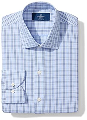 Made in Indonesia Long-sleeve plaid pattern non-iron dress shirt with no pocket, offered in variety of collar types Luxury Supima cotton with a lightweight finish; straight back yoke with center box pleat Satisfaction Guarantee: If you are not comple...