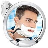 Fogless Shower Mirror with Built-in Razor Holder | 360° Rotation | Real Fog-Free Shaving | Adjustable Arm & | Shatterproof & Rust-Resistant | Non-Fogging Bathroom Mirror for Men and Women
