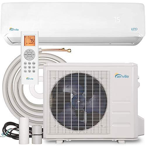 Senville LETO Series Mini Split Air Conditioner Heat Pump, 9000 BTU 110/120V, White