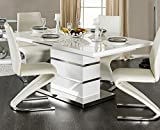 William's Home Furnishing Midvale Table, White and Chrome