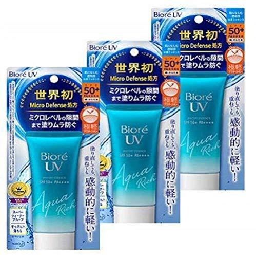 Biore UV Aqua Rich Watery Essence SPF50+/PA++++ (3 Count)