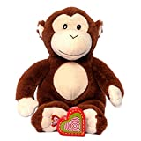 My Baby's Heartbeat Bear Recordable Stuffed Animals 20 sec Heart Voice Recorder for Ultrasounds and Sweet Messages Playback, Perfect Gender Reveal for Moms to Be, Lil Monkey