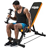 VIAGDO Adjustable Weight Bench Foldable Utility Workout Bench for Home Gym Strength Training, 8 Positions, 660 LBS Flat/Incline/Decline Sit Up Weight Bench Press for Full Body Workout Exercise