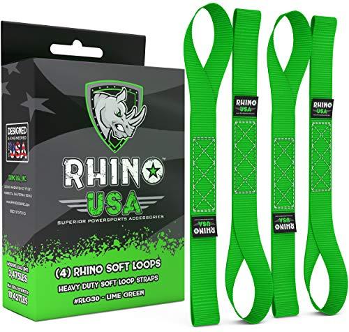 RHINO USA Soft Loops Motorcycle Tie Down Straps (4pk) - 10,427lb...