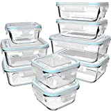 18 Piece Glass Food Storage Containers with Lids, Glass Meal Prep Containers, Glass Containers for...