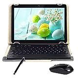 Tablet Android con schermo IPS HD da 10,0 pollici, Android 7.0 Pad 3G con 2 slot per schede SIM, quad-core, 1,3 GHz, 4 GB + 64 GB, Bluetooth, WiFi, GPS, doppia fotocamera,nero