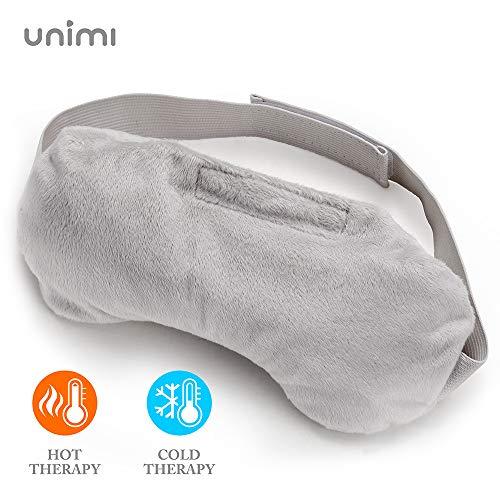 Unimi Lavendel Augenkissen, Aromatherapie Schlafmaske Damen und Herren, gewichtete Augenmaske, Heiß- / Kalttherapie-Augenschutz für Yoga, Kopfschmerzen, geschwollene Augen, Migräne.