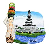 zamonji Pura Ulun Danu Bratan, Bali Island, Indonésie, 3D Résine Aimant...