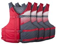 Stohlquist Fit Adult PFD 4 Pack Coast Guard Approved Universal, Red