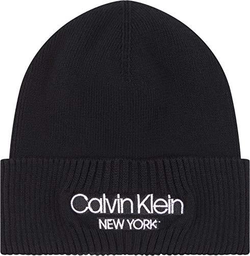 Calvin Klein Beanie Cappellino da Baseball, CK Nero, Taglia Unica Uomo