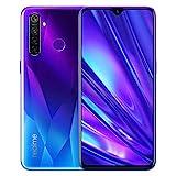 realme 5 Pro Smartphone téléphone Portable, 4 Go RAM 128 Go ROM 6.3 '' Snapdragon 712AIE Octa Core 16MP Front 48MP Quad caméra 4035mAh, Version Européenne (Bleu)