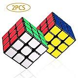 LOVEXIU Cube 3×3, 2 Lots Speed Cube 3x3x3, Cube Magique avec Vitesse de...