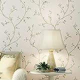 Dormitorio Sala de estar Papel tapiz de fondo Moderno Minimalista Lado del país Flor pequeña Papel pintado no tejido 0.53 x 10m D