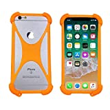 Silicone Case for Xgody K20 Note 7 Shock-Absorption Bumper Cover Protective Flexible TPU Rubber Phone Case for Hisense Infinity H30 Lite/Coolpad Cool 5(Orange)