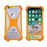 Case for VIVK F5 F7 / iLA R1 X1 X2 Shockproof Bumper Cover Protective Rubber Silicone Phone Case for SFR Altice S11 S31 S41 S61 Startrail 7 / IMO Q2 Plus Q3 Plus S2(Orange
