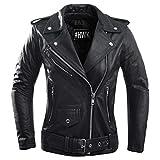 Ladies Leather Motorcycle Jacket For Women Classic Vintage Cafe Racer Brando Biker Jackets (2X-Large)