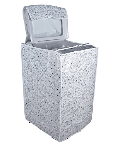 Classic Top Load Washing Machine Cover Suitable For IFB 6.5 Kg, 7.0 Kg, 7.5 Kg Only (60cms X 60cms X 90cms) White & Grey