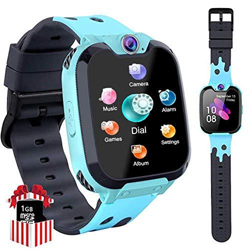 Orologio Smart Phone da Gioco per Studenti Bambino, Ragazzi e Ragazze Orologio Touch Screen ad Alta Definizione da 1,5 Pollici Circa Sveglia per Lettore MP3 per Bambini da 3-12 anni regalo (Blu X9)