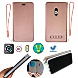 Case for IMO Q2 Plus Case Silicone Protection Ring + Flip Cover Stand Shell Pink