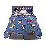 Franco Kids Bedding Super Soft Comforter and Sheet Set with Bonus Sham, 7 Piece Full Size, Ryan's World