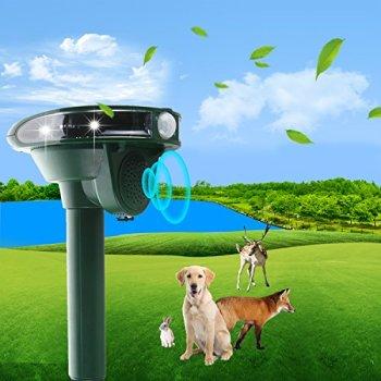 2021 Répulsif à ultrasons avec alimentation solaire et flash contre les chats, chiens, martres, animaux de compagnie, répulsif contre les chiens, chats, répulsif contre les martres