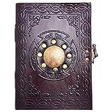Livre des ombres en cuir A5, Journal de voyage, Grimoire en relief, Journal...