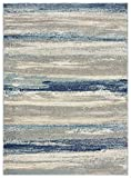 Luxe Weavers Tower Hill Abstract Blue 8x10 Area Rug