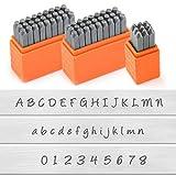 Kit de sellos de letras y números de metal