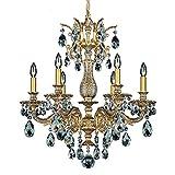 Schonbek 5676-83O Swarovski Lighting Milano Chandelier, Florentine Bronze
