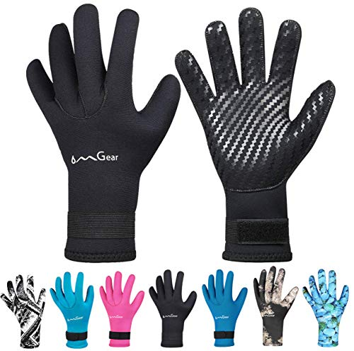 Neoprene Gloves Diving Wetsuit Gloves Anti-Slip Flexible Thermal with Adjustable Waist Strap for...