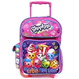 Shopkins Small School Roller Backpack 12' Trolley Rolling Luggage Bag