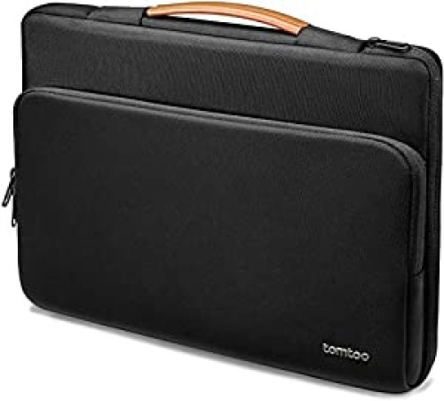tomtoc Recycled Laptop Case<br>for 15.6 inch Acer Aspire 5 Slim Laptop, 15.6 HP Pavilion, 15.6 Inch ASUS ROG Zephyrus, 2020 New Dell XPS 17, 360 Protective Bag for Dell Asus ThinkPad 15 Inch Chromebook, leather laptop case<br>