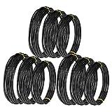 SODIAL 9 Rollos Bonsai Wires Alambre de Entrenamiento de Aluminio Anodizado Bonsai con 3 TamaOs (1.0 Mm, 1.5 Mm, 2.0 Mm), Total 147 Pies (Negro)