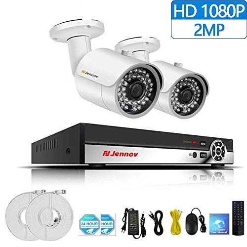 Z-DYQ 2CH 1080P Videosorveglianza Sistema di Telecamere di Sicurezza Videosorveglianza P2P NVR IP Telecamera di Sicurezza Wireless Remota Full HD Telecamera di Sicurezza Outdoor,1TB