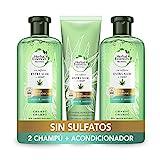 Herbal Essences Sin Sulfatos Ni Siliconas, Ingredientes Naturales Aloe Puro Y Hemp, 2 Champús 380...