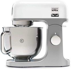 Kenwood kMix KMX750WH, Robot Pâtissier, Robot pâtissier multifonctions avec Bol en Acier 5 L, 1000 Watt, Blanc