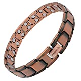 MagnetRX® Pure Copper Magnetic Therapy Bracelet - Arthritis Pain Relief & Carpal Tunnel Magnetic Copper Bracelets for Men - Adjustable Length with Sizing Tool (Leo Style)