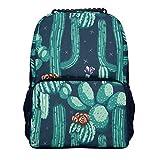 Cactus, Flower, hierbas, plant, mochila para jóvenes con bolsa de papel - Adrett para viajes escolares