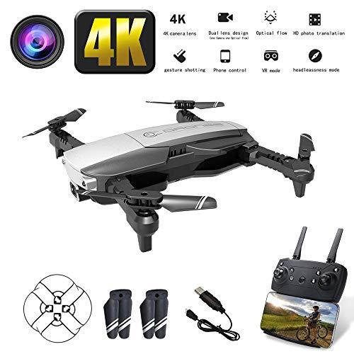 NANE Drone con Telecamera 4K Full HD, Volo di traiettoria, modalit Headless, Funzionamento con Un...