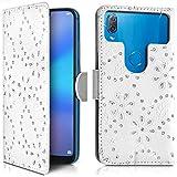 KARYLAX Étui Portefeuille Diamant Blanc (Ref.8-C) pour Smartphone Hisense F17 Pro