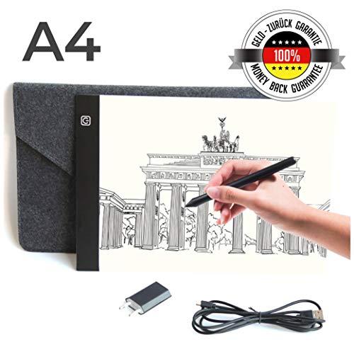 Sioco Tavoletta Luminosa A4 + Custodia + Adattatore   Light Pad Lavagna Luminosa Grafica...