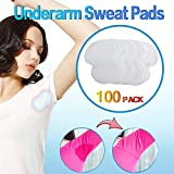 100 Pack Underarm Sweat Pads, Premium Quality Fight Hyperhidrosis for Men and Women Comfortable, Non Visible, Sweat Free Armpit Protection.