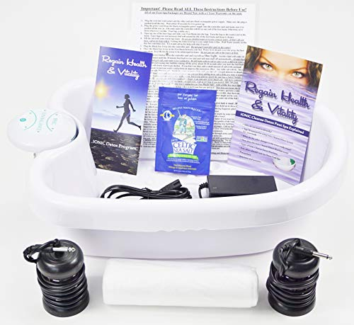 Ionic Ion Detox Foot Spa Chi Bath with Heavy Duty Acrylic Foot Basin. Top Seller