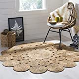 Safavieh Natural Fiber Collection NF363A Hand-woven Jute Area Rug, 3' x 3' Round