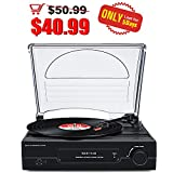 Vinyl Record Player Turntable with Bluetooth Stereo Speaker Vintage LP Phonograph in 3 Speed