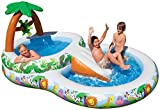 Kids Inflatable Pool. Small Kiddie Blow Up Above Ground Swimming Pool Is Great For Kids & Children To Have Outdoor Water Fun With Slide, Floats & Toys. This Dinoland Baby Swim Pool - Light & Portable.