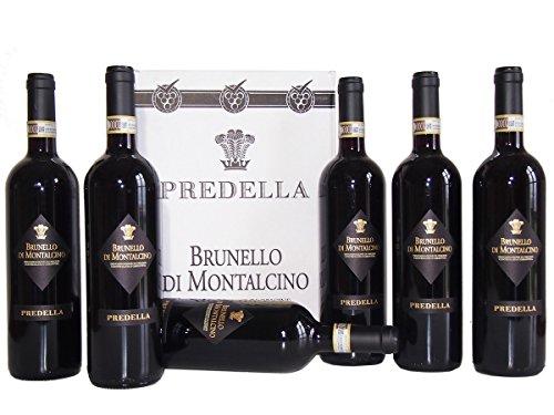 Brunello di Montalcino DOCG Predella Confezione da 6 Bottiglie  Il Migliore Vino della Toscana - cod 240