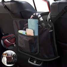 51ykm4h12CL 【EXTRA STORAGE】- The Car Net Pocket Handbag Holder completely covers the gap between the front two seats and make them your extra storage.It can stretch to the perfect size based on different spaces between the driver and the passenger seats of various car models.The mesh bag design helps to storage your items like phone/tablet/purse/magazine/perfume/lipstick... and keep them in good order of reachable place. 【P【ET AND KIDS BARRIER】- This car organizer can completely cover the gap between the front two seats, and put more things in.It is also a special barrier that prevents naughty kids or pets in the back seat disturbing your daily drives. 【SAFE DRIVING】- Net Pocket Handbag Holder helps reduce distracted driving by providing easy access to your purse contents without taking your eyes off the road. It eliminates the need for inconvenient purse placement at your passenger's feet.